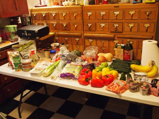 These are the groceries of a woman determined to drink her vegetables.