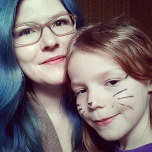 Miette and I all dolled-up for a night of rough-and-tumble roller skating